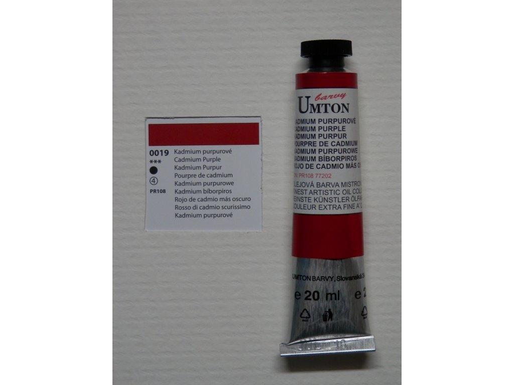 Olejová barva UMTON 20 ml - kadmium purpurové 19