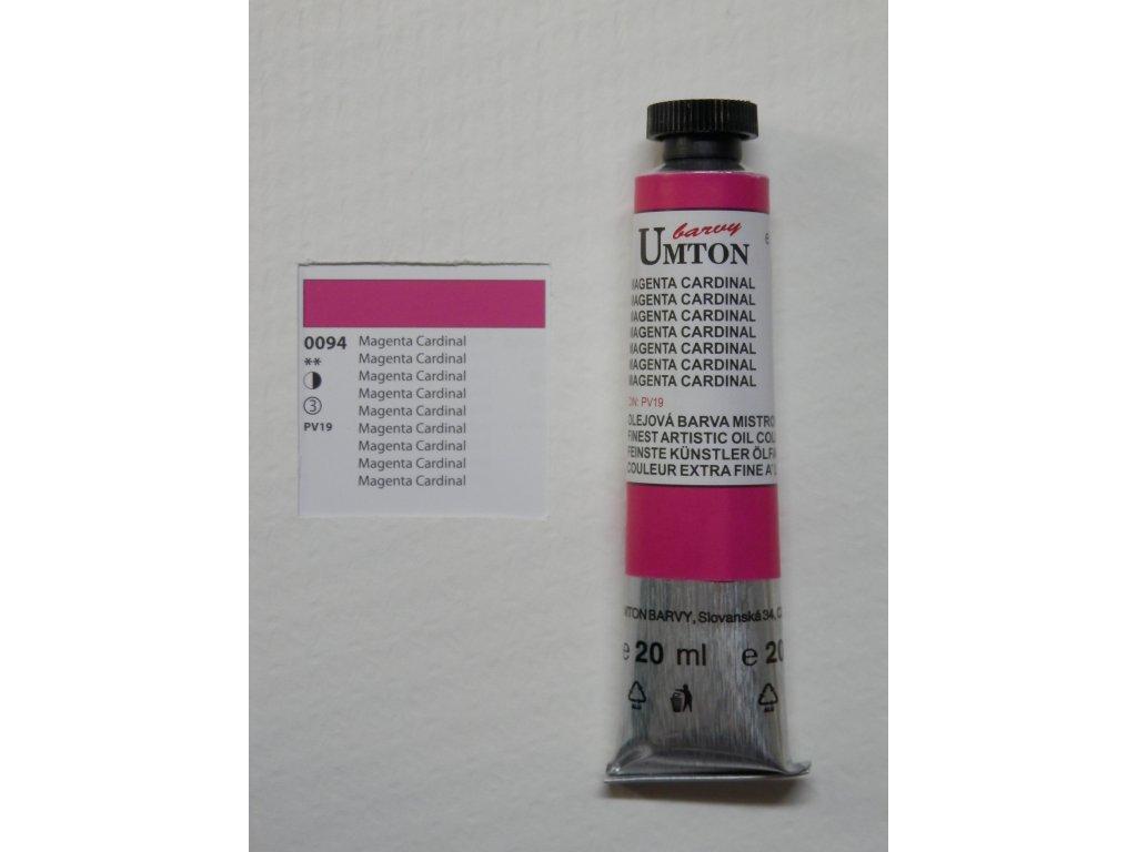 Olejová barva UMTON 20 ml - magenta cardinal 94