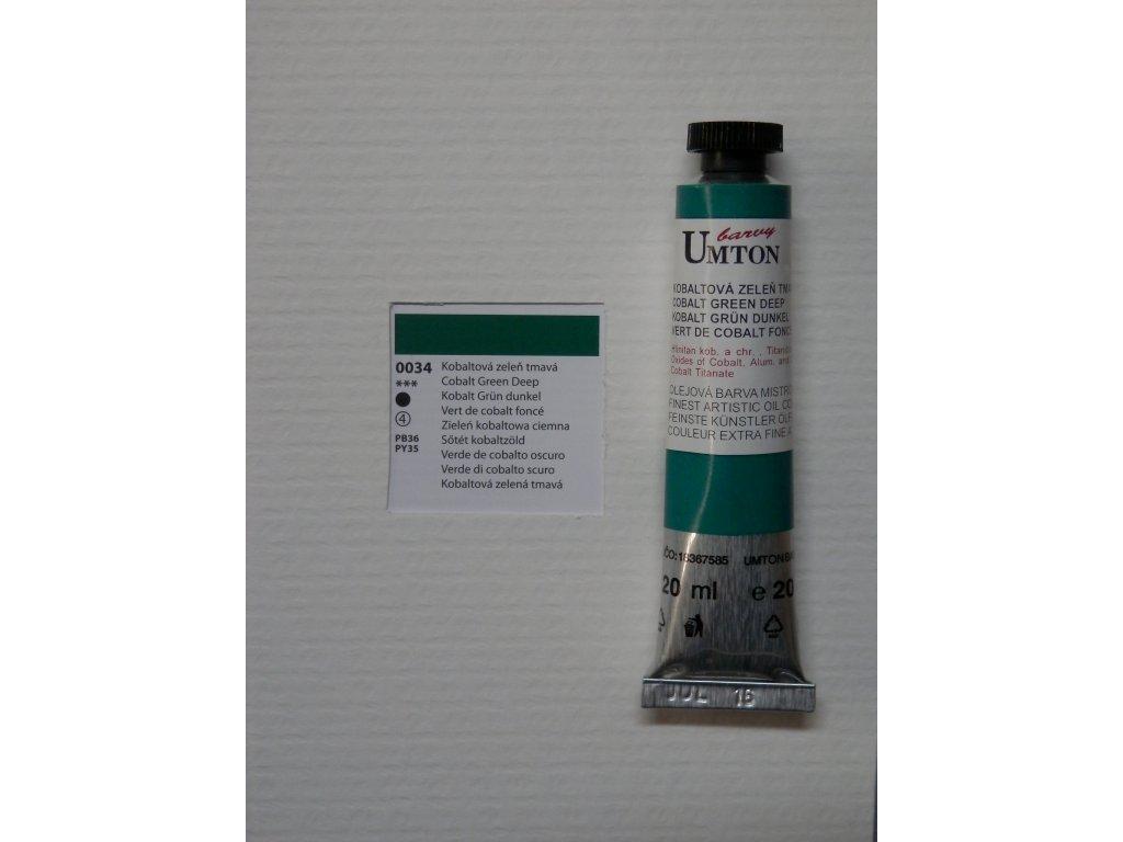 Olejová barva UMTON 20 ml - kobaltová zeleň tmavá 34
