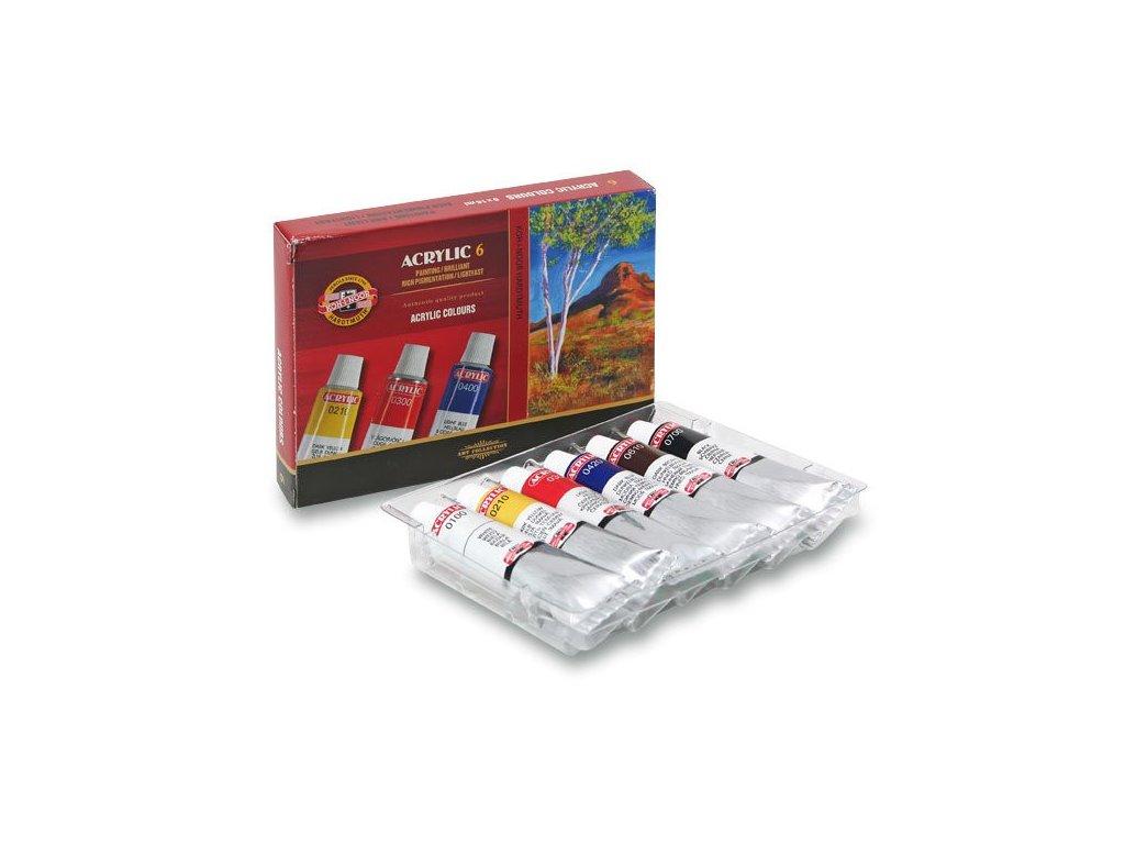 Souprava akrylových barev 6 x 16 ml Koh-i-noor