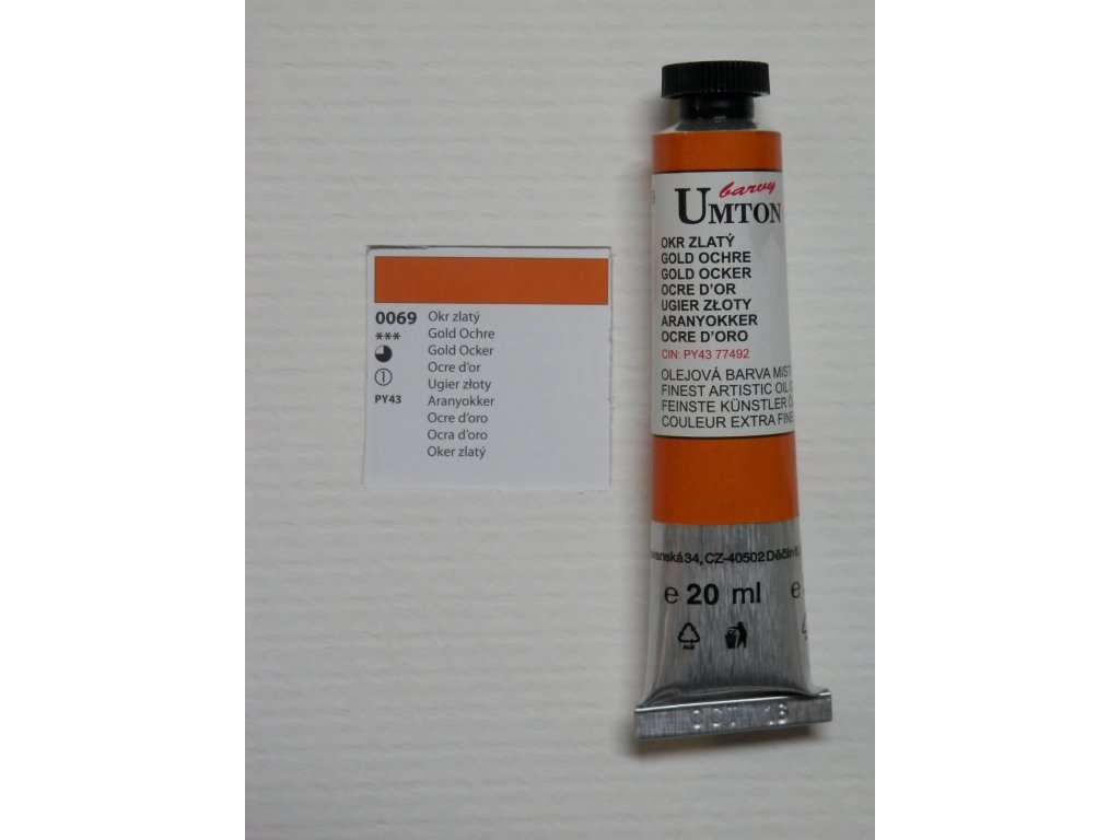 Olejová barva UMTON 20 ml - okr zlatý 69