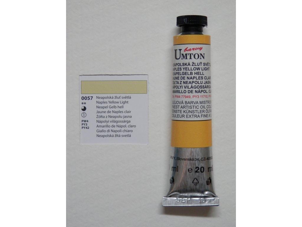 Olejová barva UMTON 20 ml - neapolská žluť světlá 57