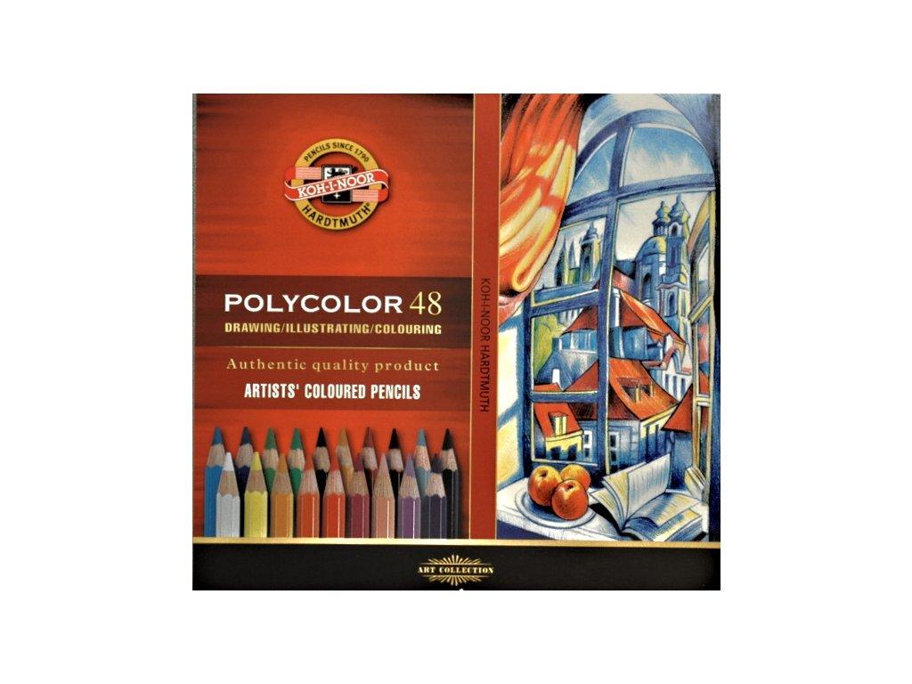 Pastelky POLYCOLOR - 48 ks