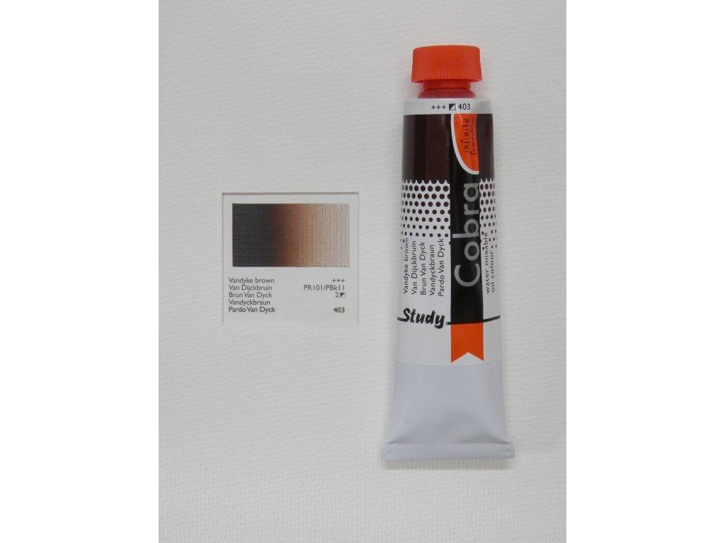 Olejová barva COBRA H2Oil 40 ml - Vandyke brown 403