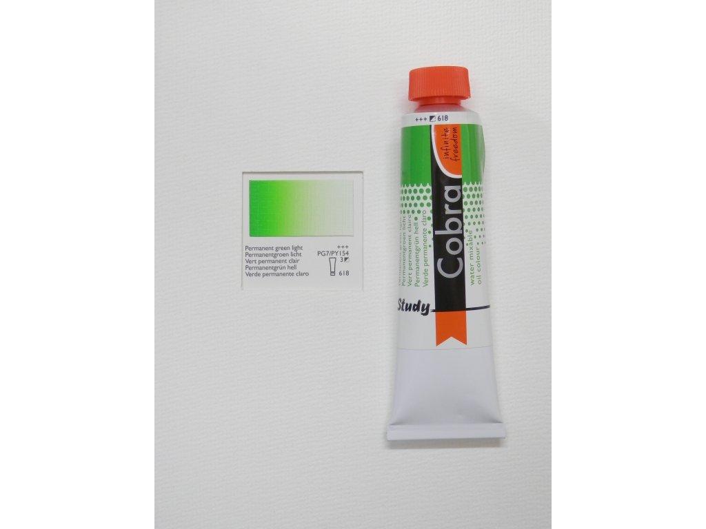 Olejová barva COBRA H2Oil 40 ml - Permanent green light 618