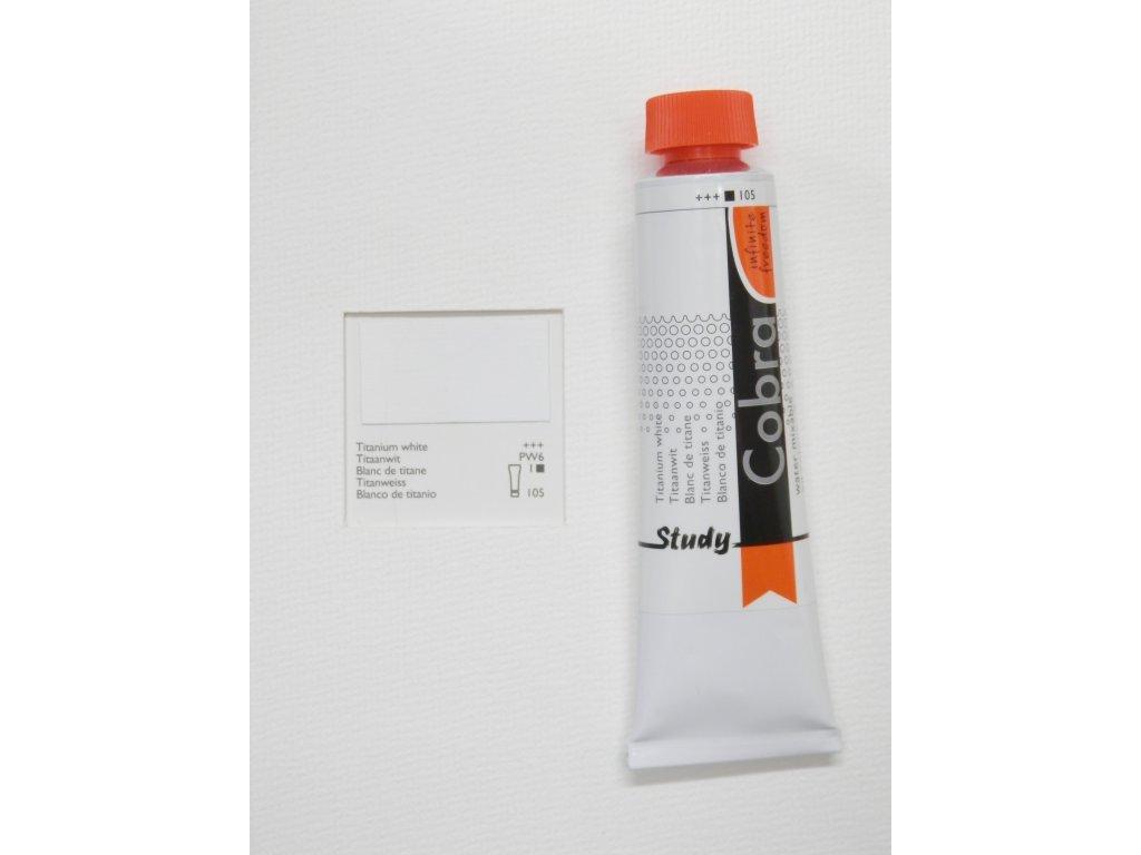 Olejová barva COBRA H2Oil 40 ml - Titanium white 105