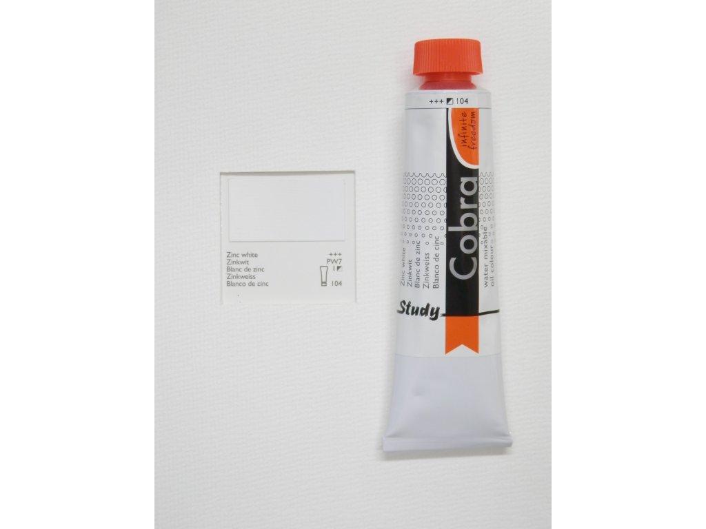 Olejová barva COBRA H2Oil 40 ml - Zinc white 104