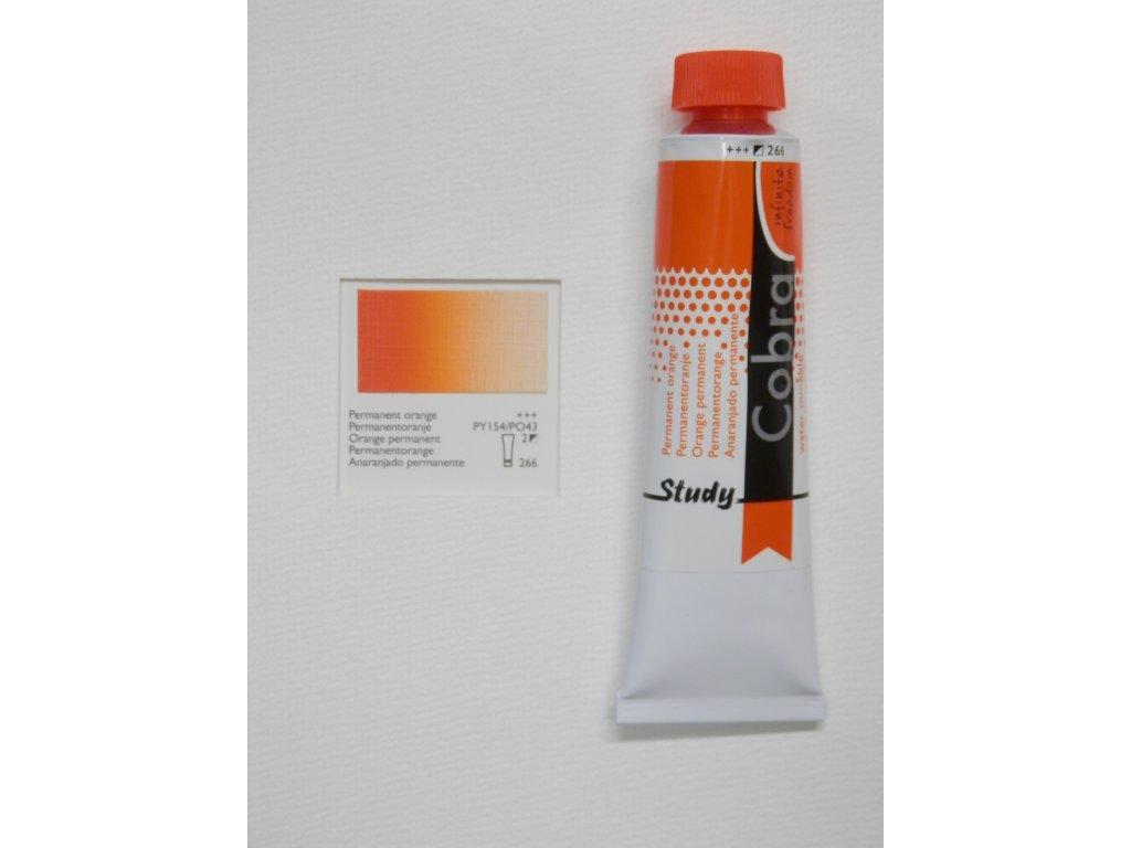 Olejová barva COBRA H2Oil 40 ml - Permanent orange 266
