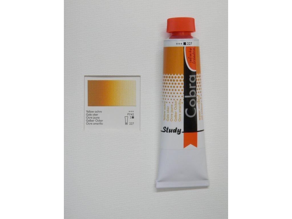 Olejová barva COBRA H2Oil 40 ml - Yellow ochre 227