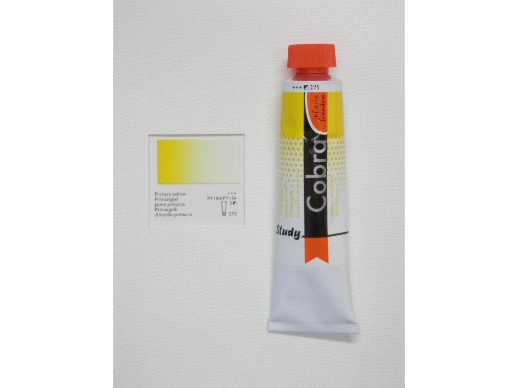 Olejová barva COBRA H2Oil 40 ml - Primary yellow 275