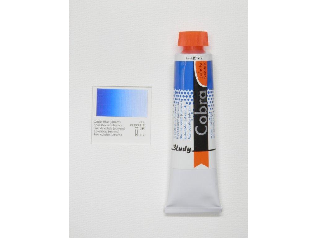 Olejová barva COBRA H2Oil 40 ml - Cobalt blue (ultram.) 512