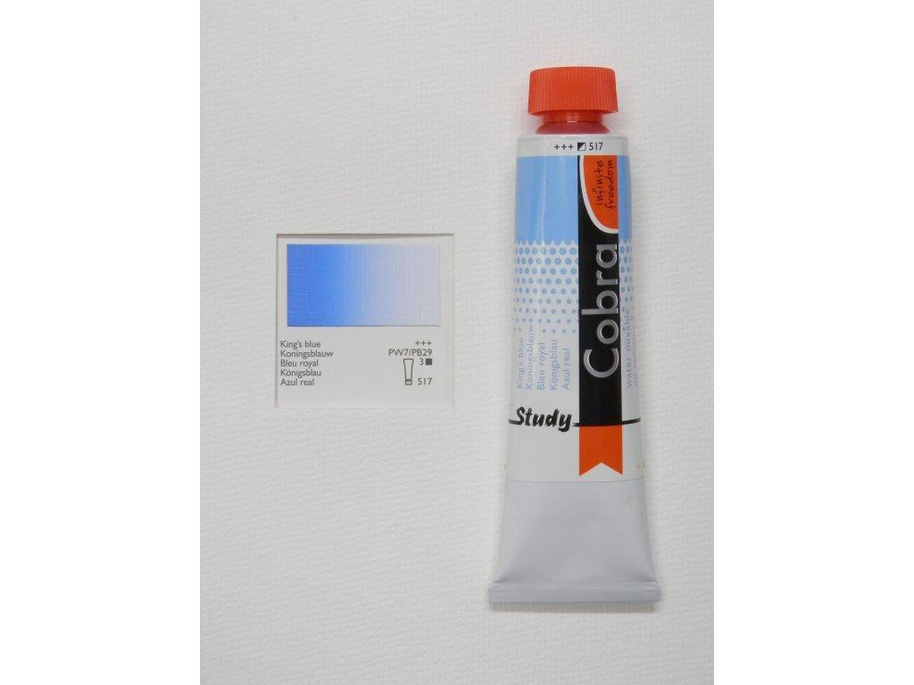 Olejová barva COBRA H2Oil 40 ml - King's blue 517