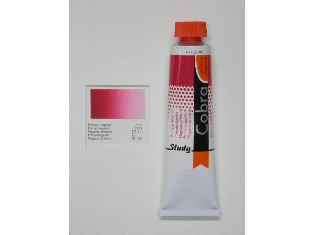 Olejová barva COBRA H2Oil 40 ml - Primary magenta 369