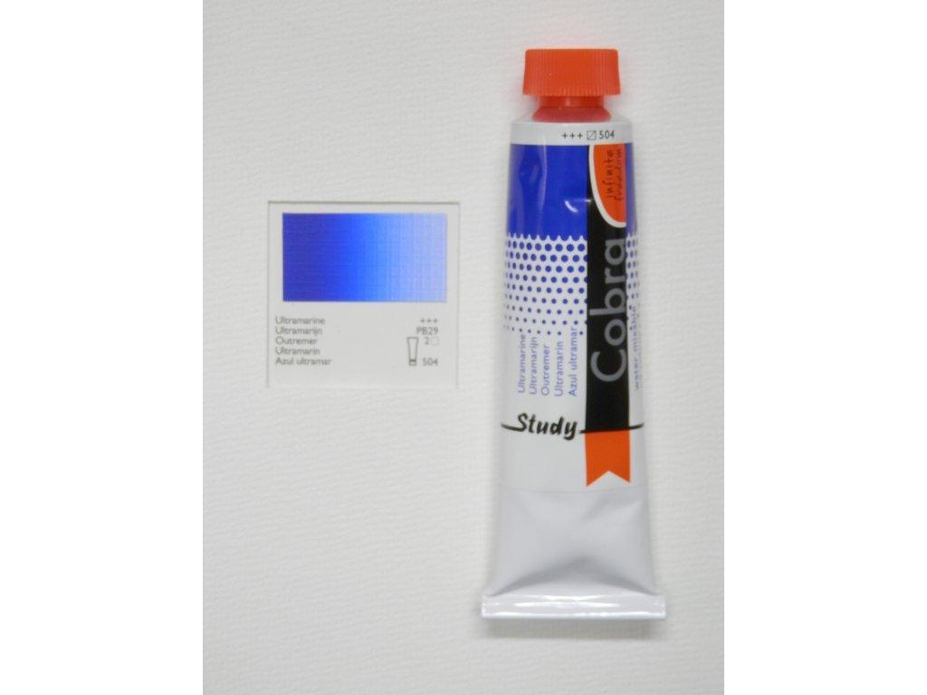 Olejová barva COBRA H2Oil 40 ml - Ultramarine 504