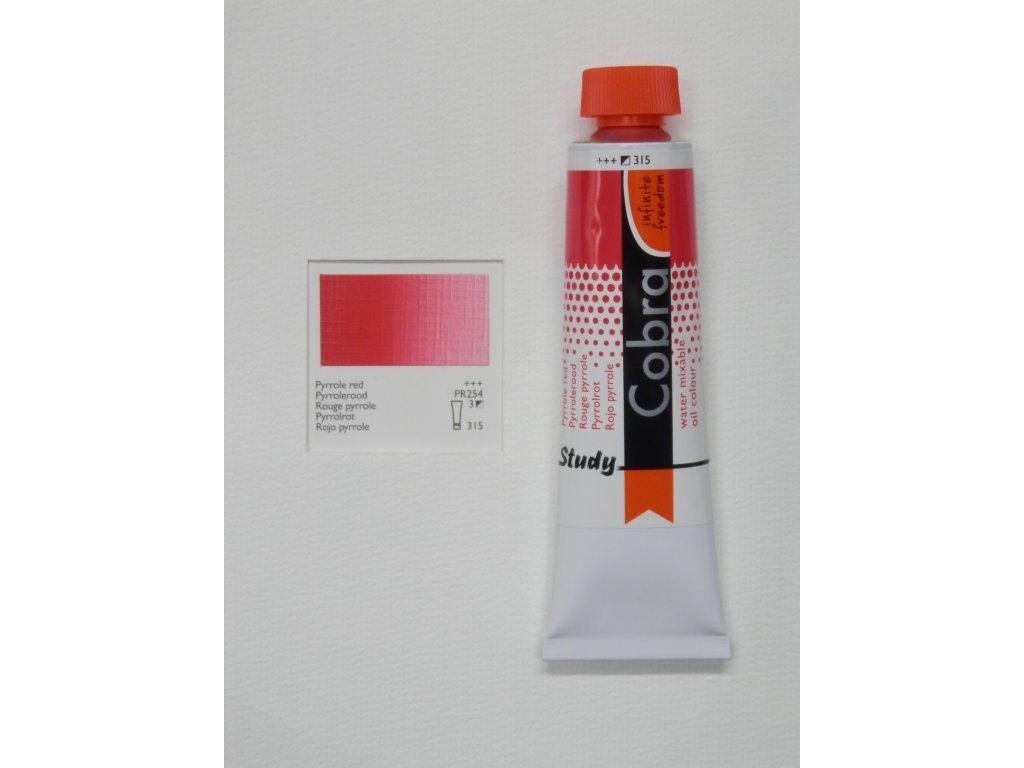 Olejová barva COBRA H2Oil 40 ml - Pyrrole red 315