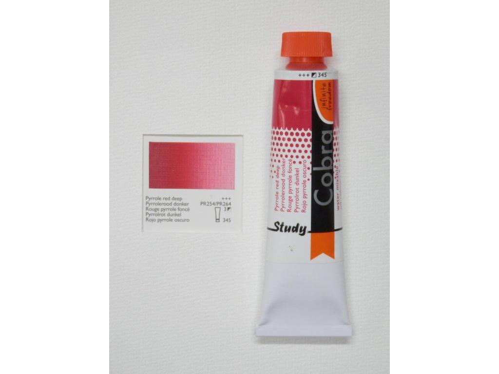 Olejová barva COBRA H2Oil 40 ml - Pyrrole red deep 345