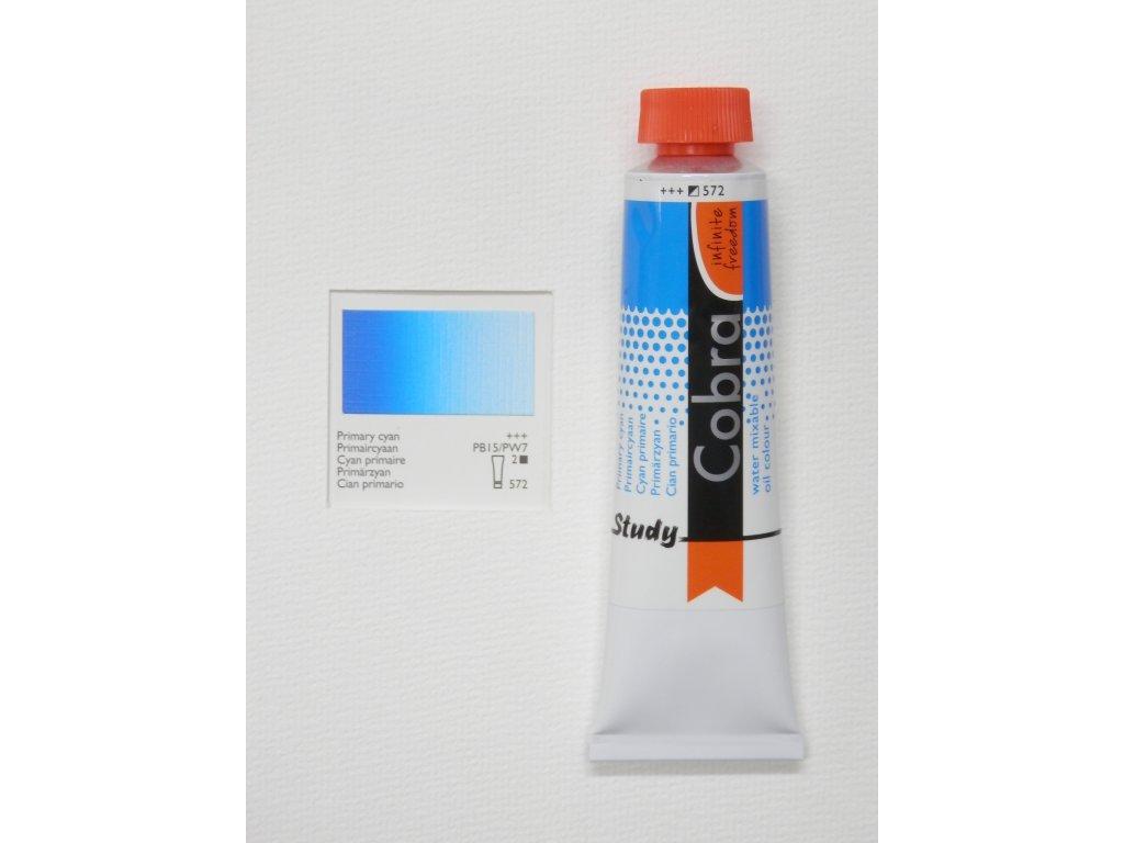 Olejová barva COBRA H2Oil 40 ml - Primary cyan 572