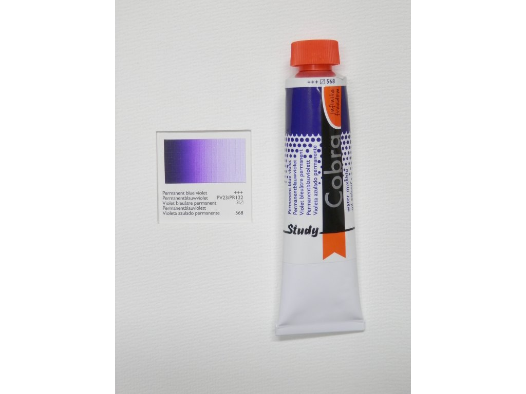 Olejová barva COBRA H2Oil 40 ml - Permanent blue violet 568