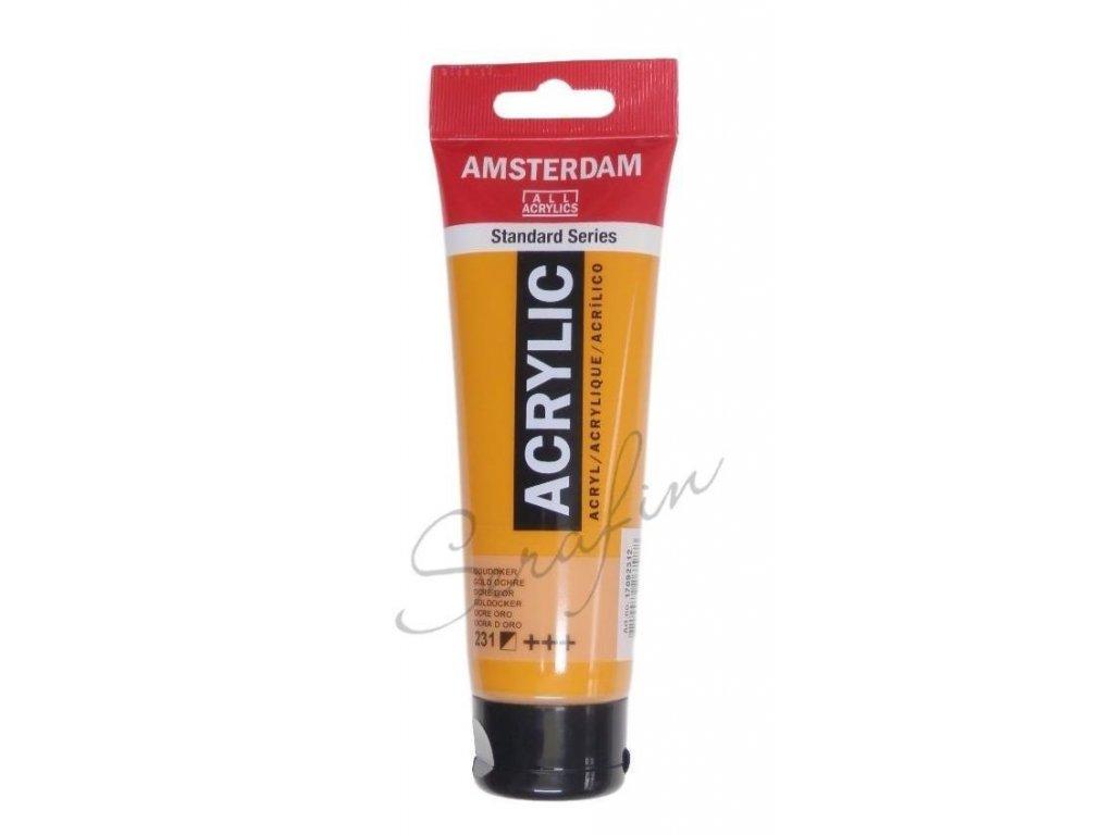 AMSTERDAM Akrylová barva 120 ml - gold ochre 231