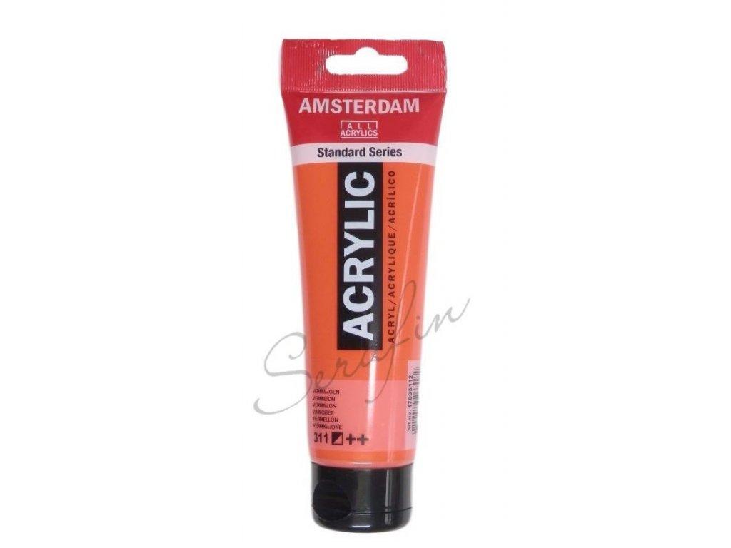 AMSTERDAM Akrylová barva 120 ml - vermilion 311