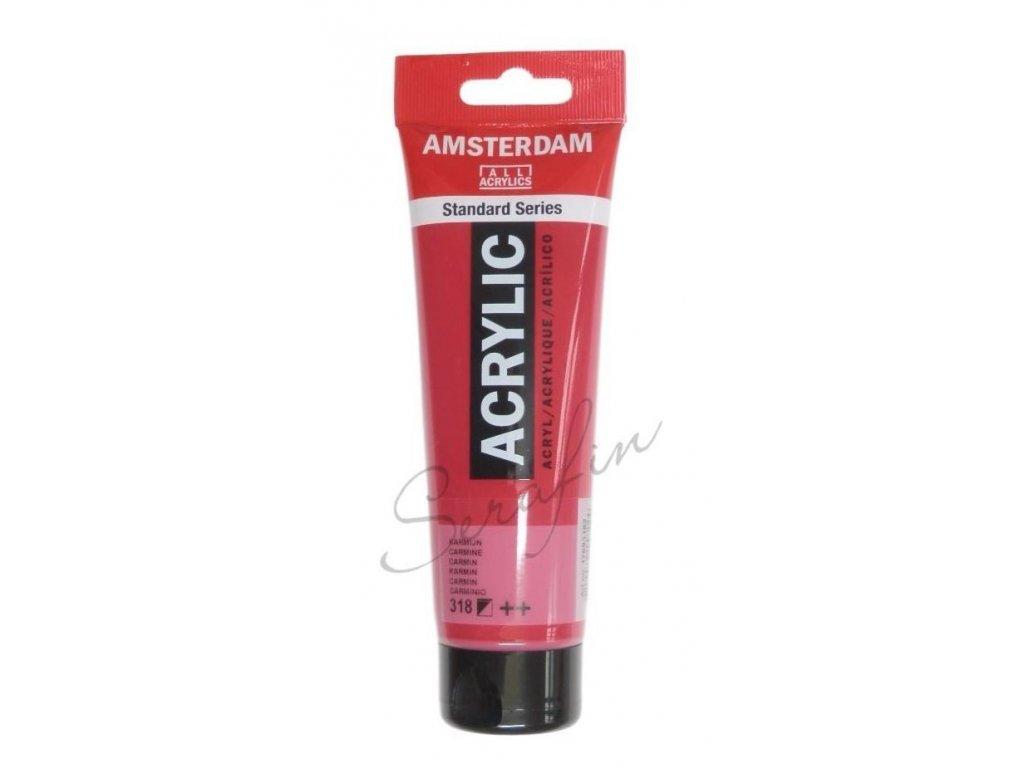 AMSTERDAM Akrylová barva 120 ml - carmine 318