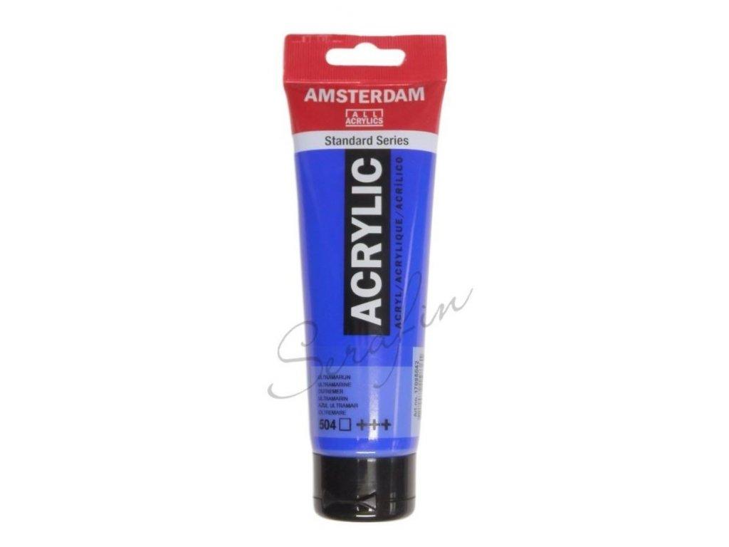 AMSTERDAM Akrylová barva 120 ml - ultramarine 504