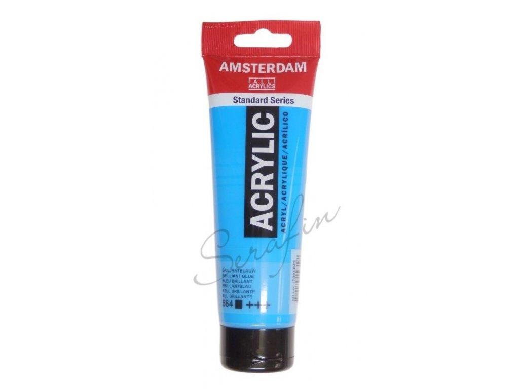 AMSTERDAM Akrylová barva 120 ml - brilliant blue 564