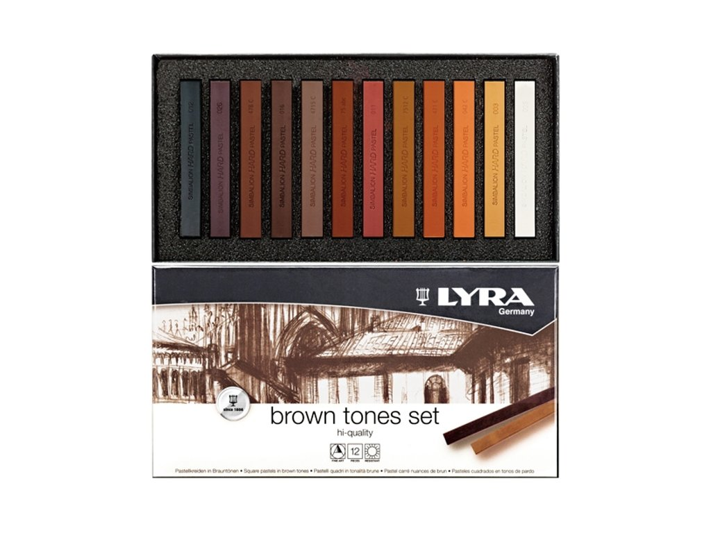 Suchý pastel - hnědé tóny - LYRA