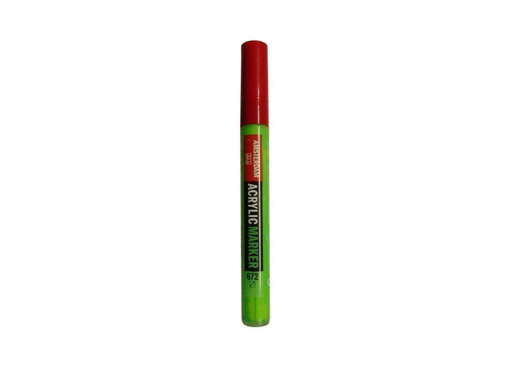 AMSTERDAM Acrylic Marker M - Akrylový fix 4mm - Reflex Green 672