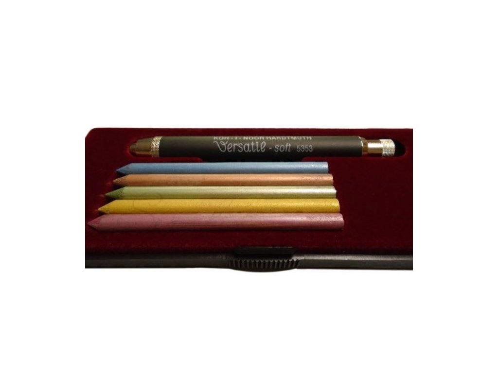 Souprava 6ks metalických tuh + mechanická tužka