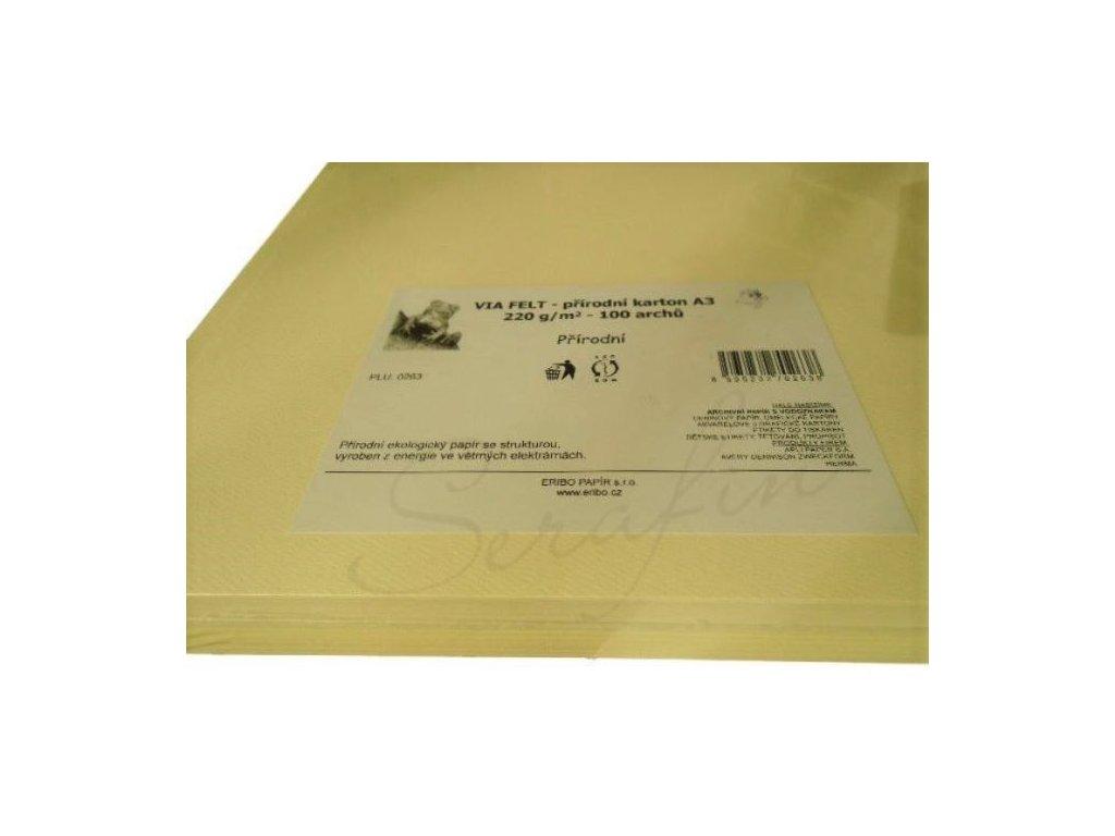 Přírodní karton Via Felt 220 g/m² - 35 / 50 cm 1 ks