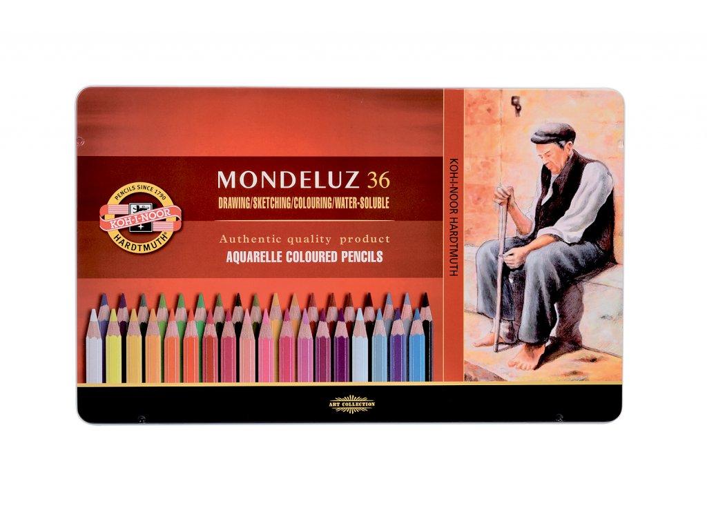 Akvarelové pastelky KOH-I-NOOR 36 ks v plech.kazetě
