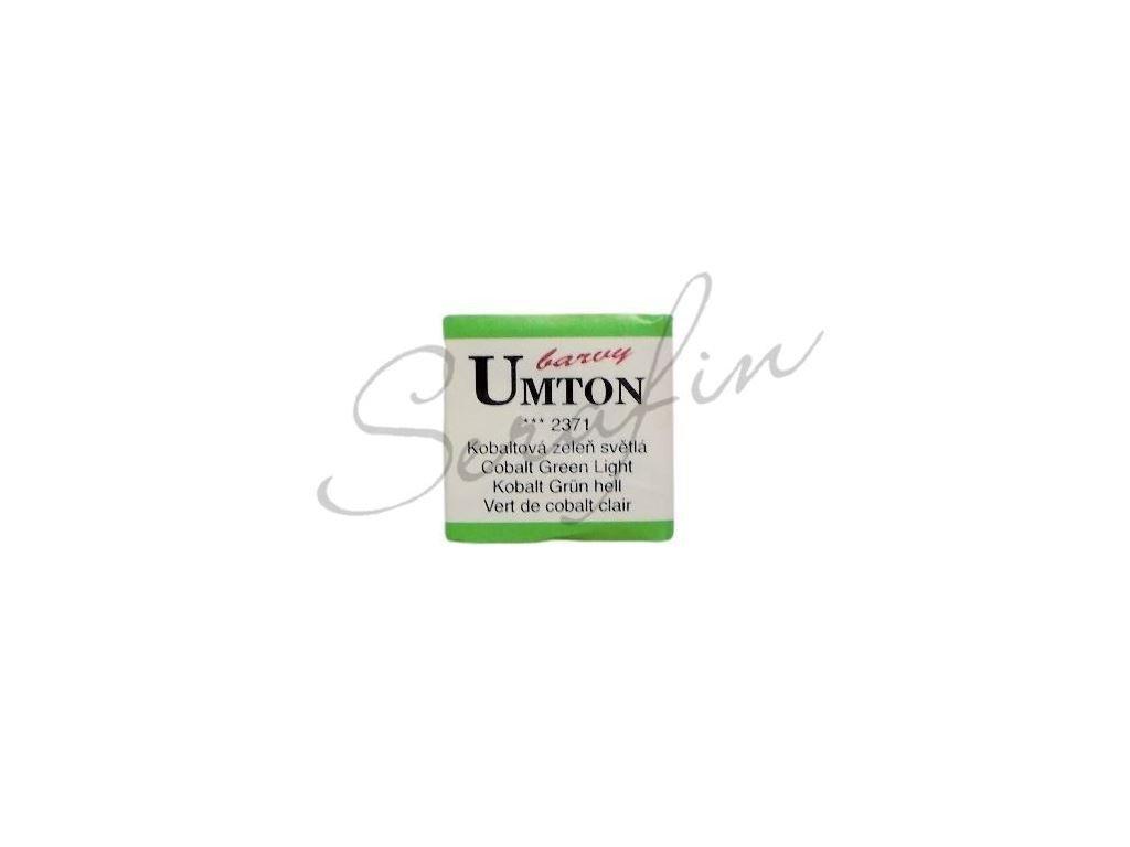 2371 - Akvarelová barva UMTON - Kobaltová zeleň světlá