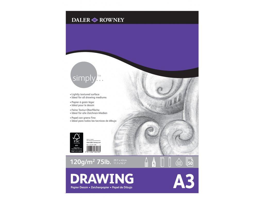 Blok Simply Drawing - 120g/m² - A3