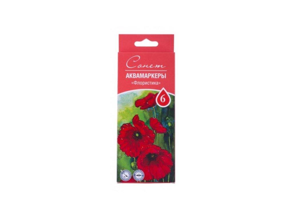 Sada akvarelových markerů Sonnet - Floral 6ks