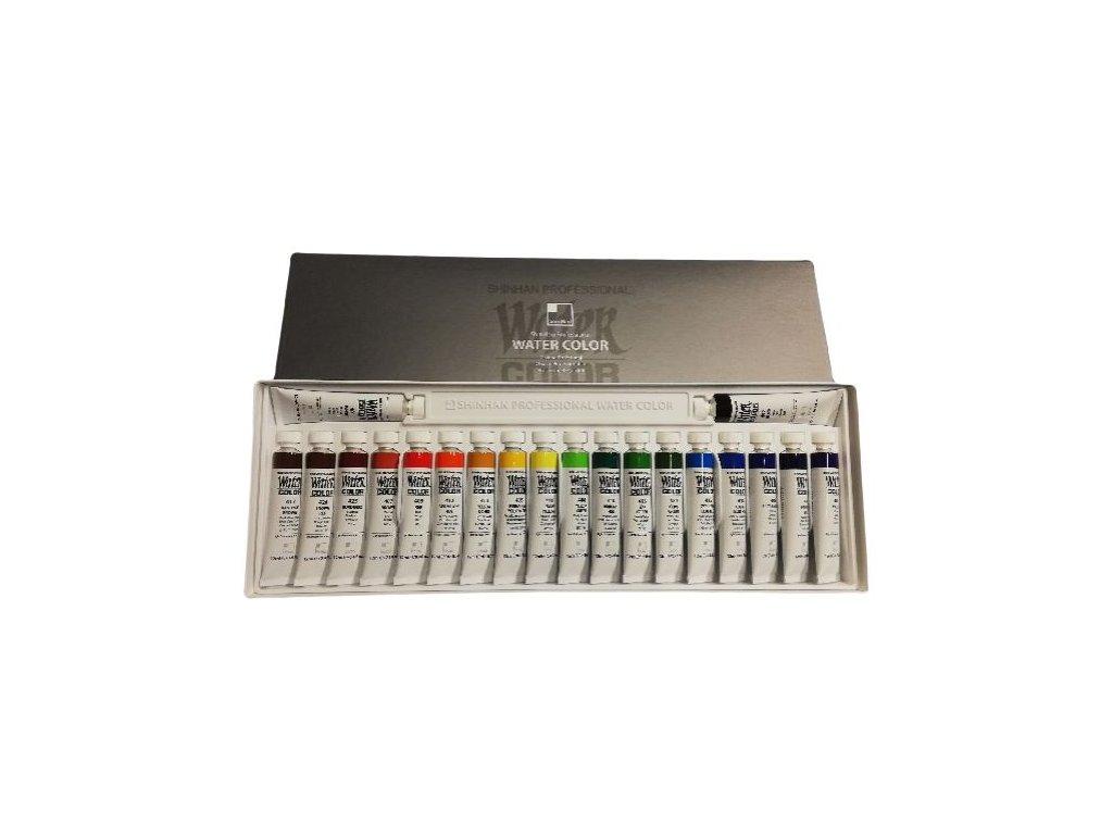 Sada 20 ks profesionálních akvarelových barev v tubě od značky ShinHan.