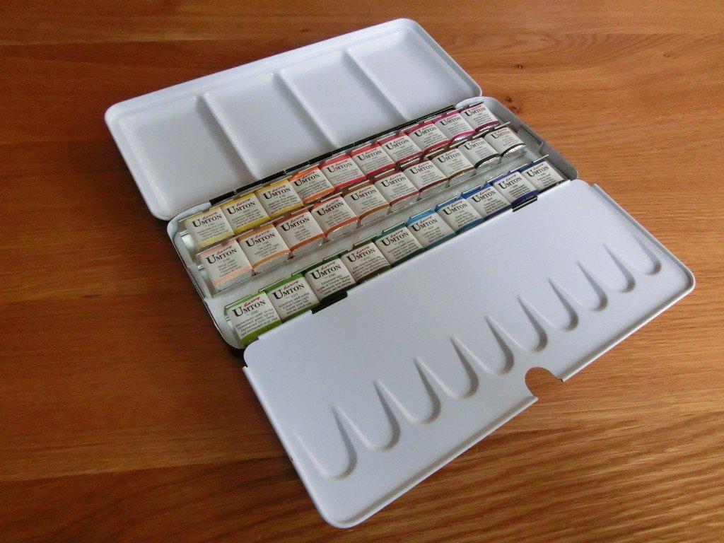 Akvarelové barvy UMTON, sada 30 ks x 2,6 ml v plechové kazetě