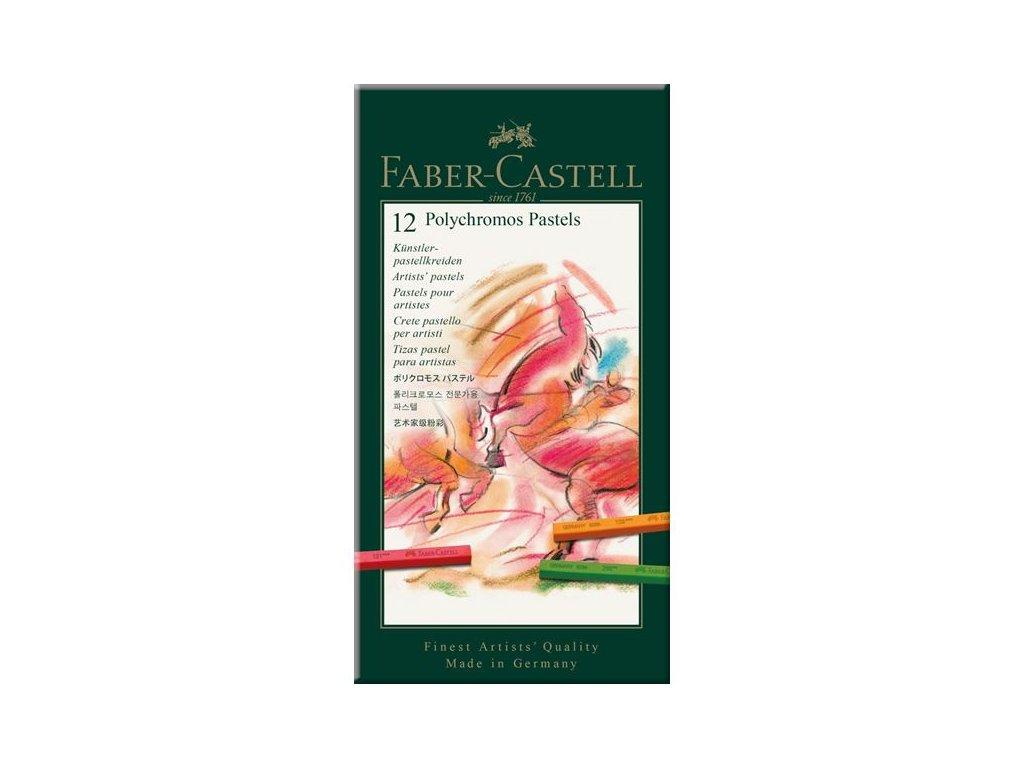 Sada 12 ks pastelů Polychromos Faber Castell