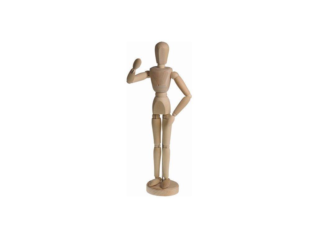 Dřevěný manekýn - muž 14 cm