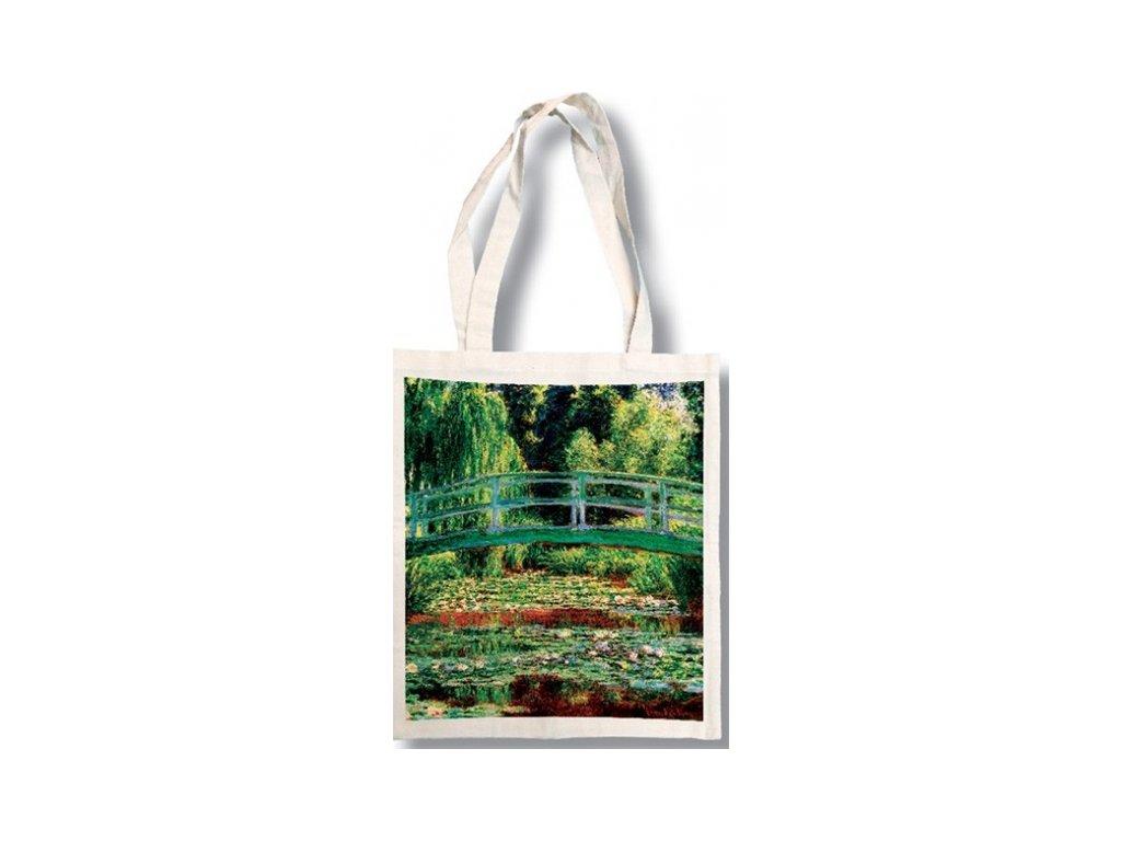 Bavlněná taška - Monet - Japonský most