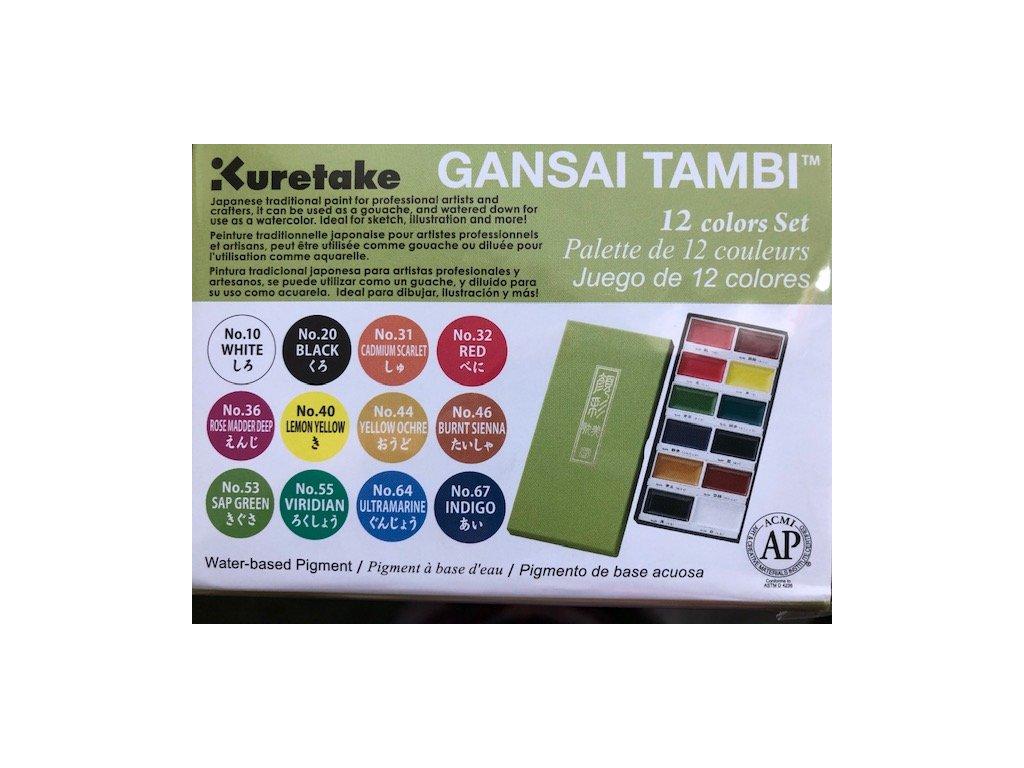 Gansai Tambi - Kuretake - sada 12 ks v balení