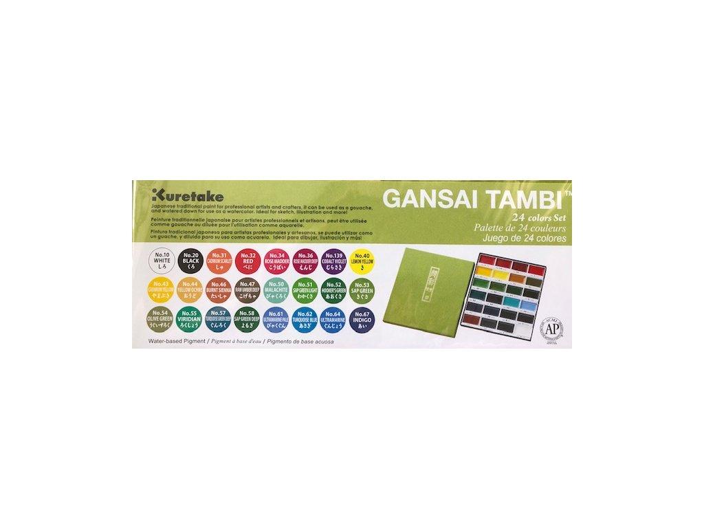 Gansai Tambi - Kuretake - sada 24 ks v balení