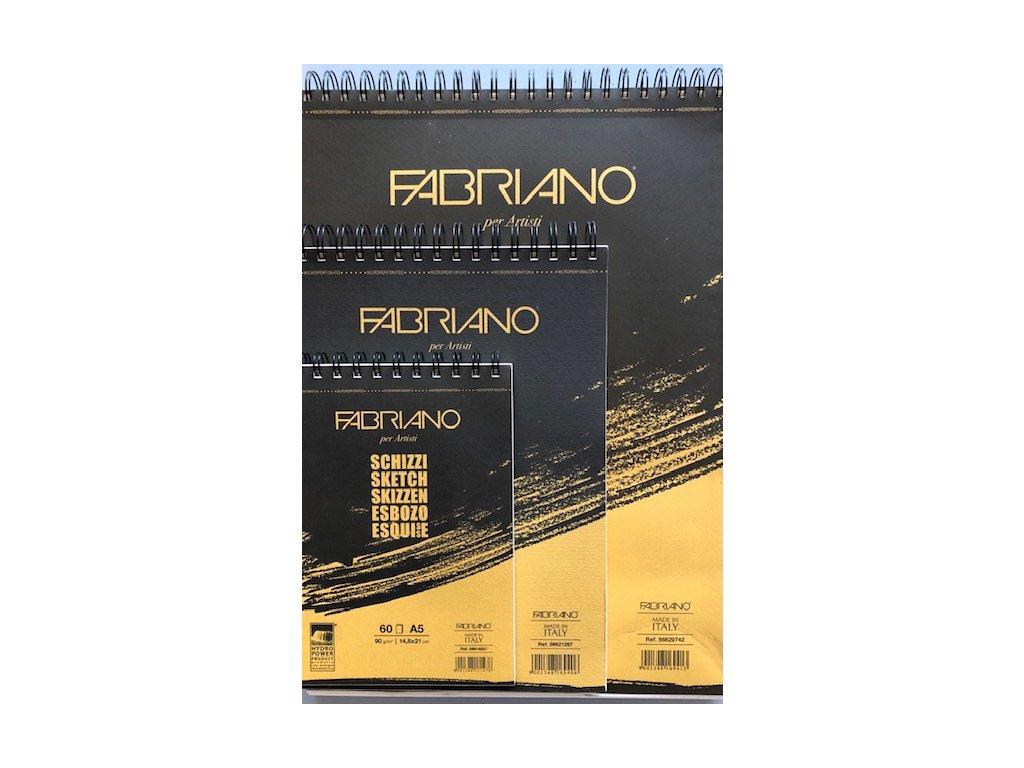 Skicovací papír v bloku Fabriano -90 g/m2  A4, A5