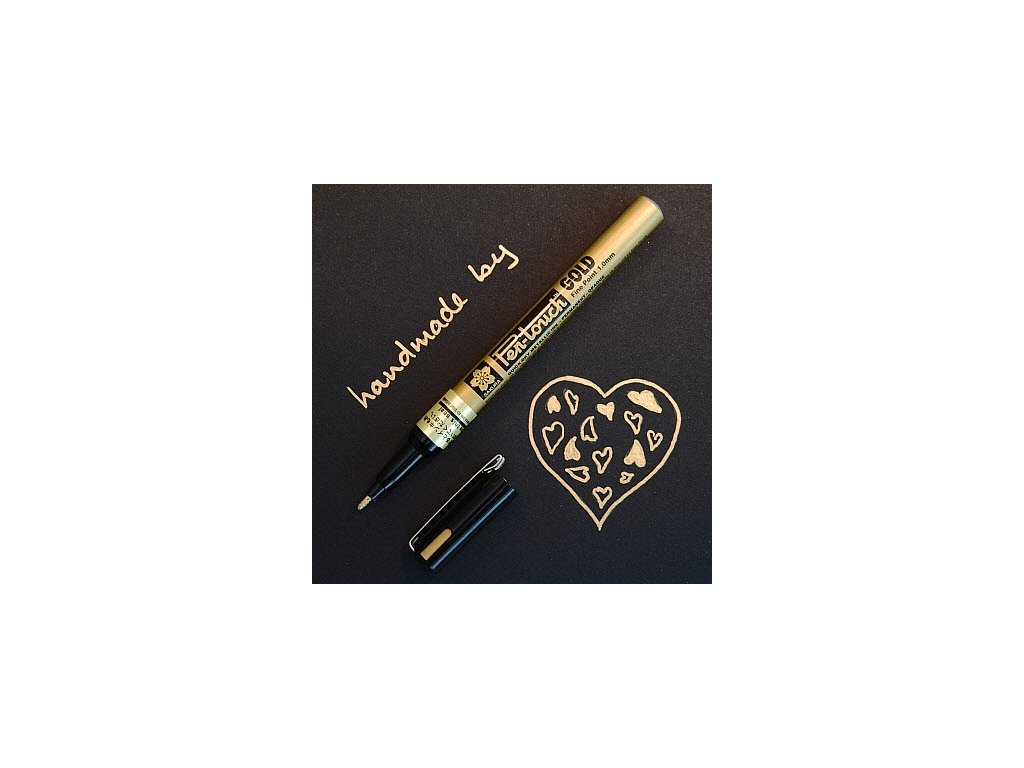 Zlatý popisovač 0,7 mm 1 mm, 2 mm