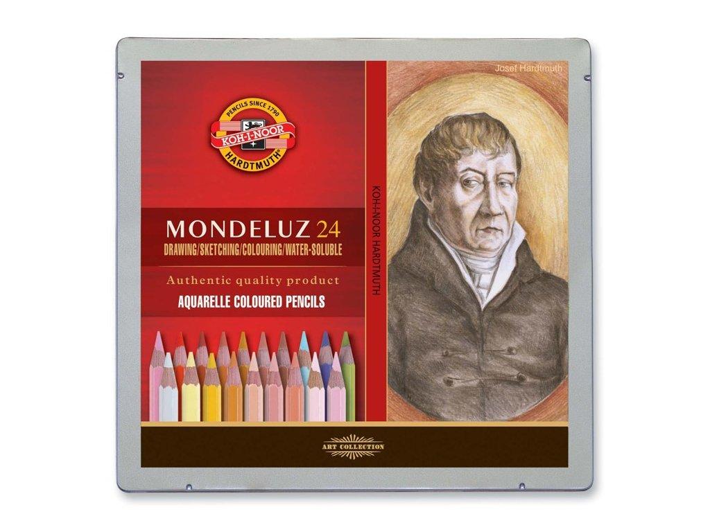 akvarelové pastelky portrét