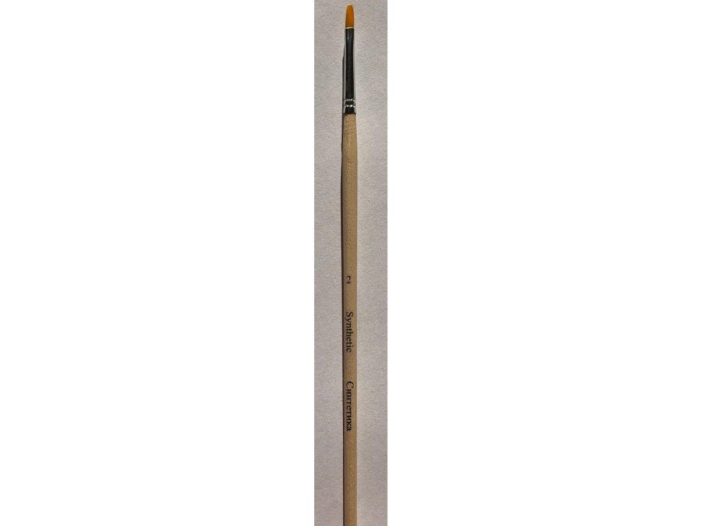 Štětec plochý syntetický dlouhá násadka Nevskaya Palitra 13 velikostí