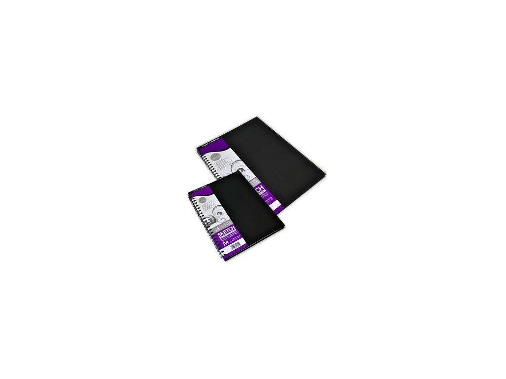 Skicovací blok A4 s pevnými deskami - kroužková vazba