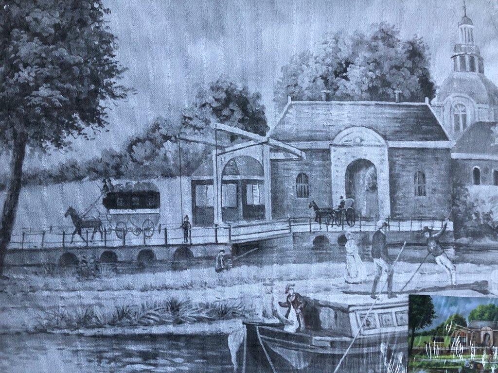 Plátno s motivem - u řeky