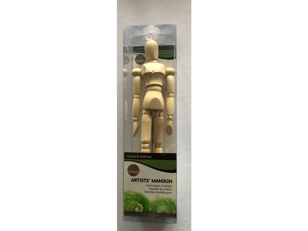 Dřevěný manekýn - 20 cm