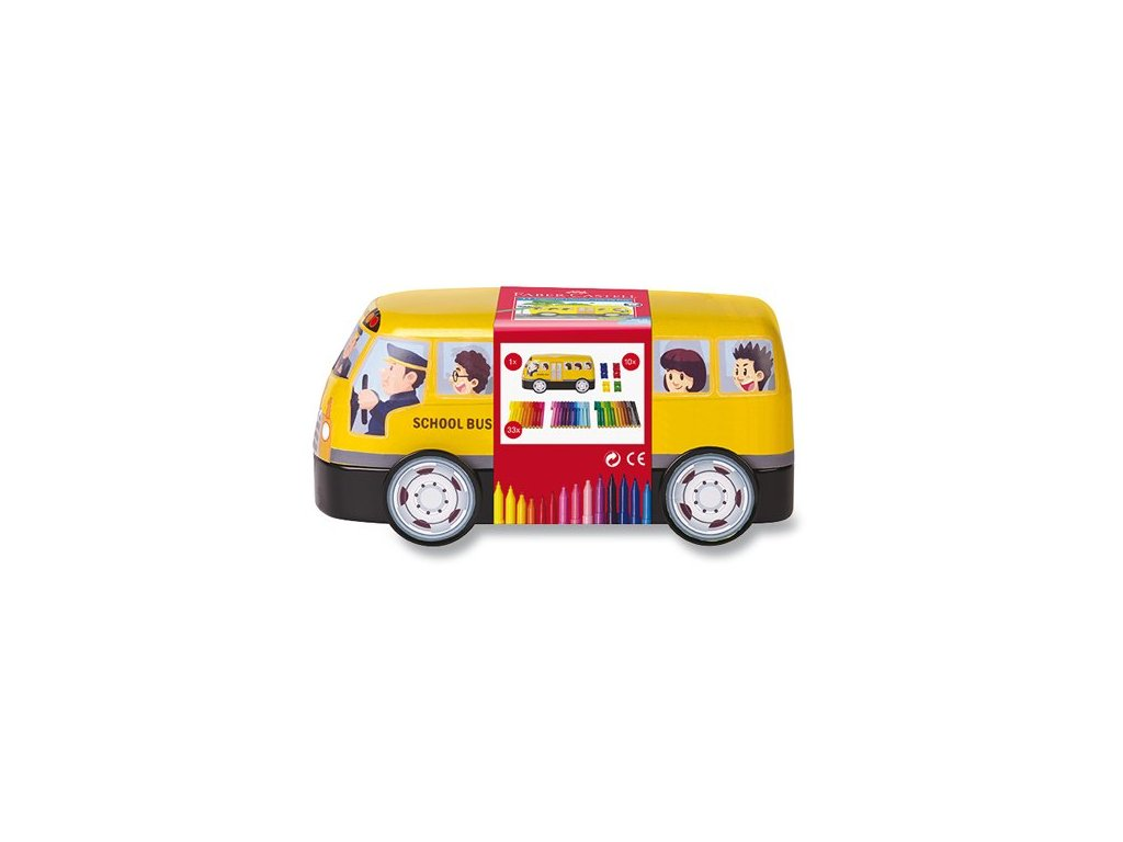 plechový autobus, 33 barev